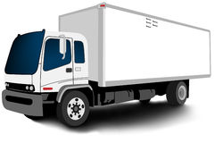 Promotional truck spread - blank Stock Photos