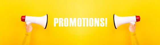 Free Promotions Concept Panoramic Image Royalty Free Stock Photo - 187799105