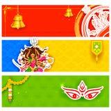 Promotions heureuses d'offre de Navratri Image stock