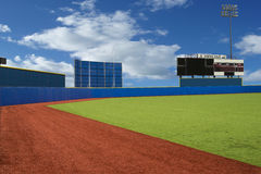 Promova o campo de basebol do campo imagens de stock royalty free