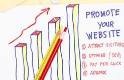 Promova seu Web site Fotos de Stock