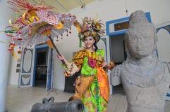 Promovendo o museu de Radya Pustaka em Surakarta, Java central, Indonésia Fotografia de Stock
