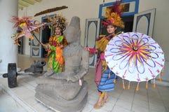 Promovendo o museu de Radya Pustaka em Surakarta, Java central, Indonésia Imagem de Stock