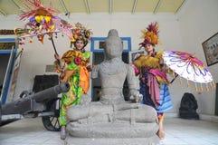 Promovendo o museu de Radya Pustaka em Surakarta, Java central, Indonésia Fotos de Stock
