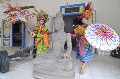 Promovendo o museu de Radya Pustaka em Surakarta, Java central, Indonésia Imagens de Stock Royalty Free