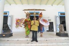 Promovendo o museu de Radya Pustaka em Surakarta, Java central, Indonésia Fotografia de Stock Royalty Free