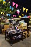 Promozione dei prodotti francesi in un supermercato Fotografia Stock