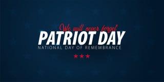 Promozione di giorno del patriota, pubblicità, manifesto, insegna, modello con la bandiera americana Carta da parati americana di illustrazione vettoriale