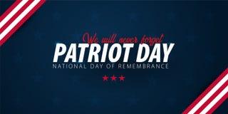 Promozione di giorno del patriota, pubblicità, manifesto, insegna, modello con la bandiera americana Carta da parati americana di royalty illustrazione gratis