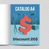 Promozione veloce dell'illustrazione dello strato del catalogo A4 di vettore illustrazione di stock
