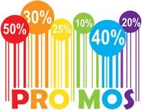 Promozioni di promo fotografie stock libere da diritti