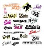 Promozioni di vendite di pubblicità 3 Fotografia Stock Libera da Diritti