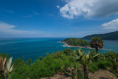 Promthep海角普吉岛的吸引力 库存照片