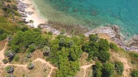 Promthep Cape Beautiful Drone Shot. Landscape Look Around Aerial View. HD. Phuket Island, Thailand. stock footage
