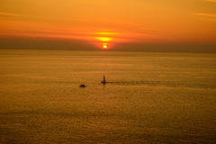 Promthep cape, the iconic place to see sunset at Phuket, Thailan Stock Photos