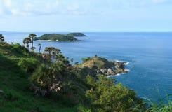 Promthep-Kap in der Regenzeit Phuket Thailand Lizenzfreies Stockbild