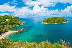 Promthep udde, Phuket Thailand Royaltyfri Foto