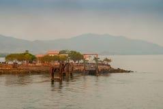 Promu dok w Costa Rica Zdjęcie Stock