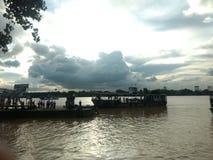 Promu port przy Kolkata Zdjęcia Royalty Free