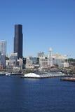 promu Seattle linia horyzontu nabrzeże Obraz Royalty Free