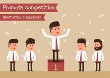 Promueva la competencia ilustración del vector