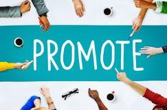 Promuova il concetto di prodotto di vendita di annuncio di commercio Immagini Stock Libere da Diritti