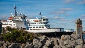 Promy przy dokiem przy Pólnocna Karolina wybrzeżem Fotografia Stock
