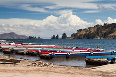 Promy przy Jeziornym Titicaca Fotografia Stock