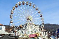 Promy toczą przy 24th Barbarossamarkt festiwalem w Gelnhausen Zdjęcia Stock