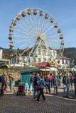 Promy toczą przy 24th Barbarossamarkt festiwalem w Gelnhausen Obrazy Royalty Free
