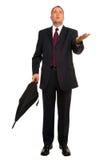 Pronóstico del hombre de negocios Imagenes de archivo