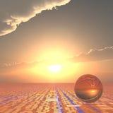 Pronóstico técnico del horizonte Imágenes de archivo libres de regalías