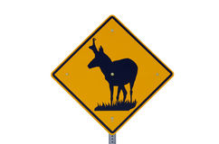 Pronghorn Antelope Sign Stock Photo