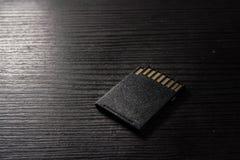 Prongs работы стола нижней стороны текстуры черноты карточки SD грубые Стоковое Изображение