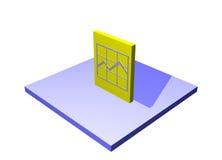 Pronostique un objeto del diagrama de la cadena de suministro de la logística Imagen de archivo