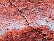 Pronounced effect crack in a wall. With extra textures Royalty Free Stock Photography