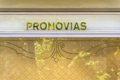 Pronovias store, Barcelona Stock Photos