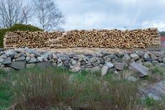 Pronto della legna da ardere tagliato fotografie stock libere da diritti