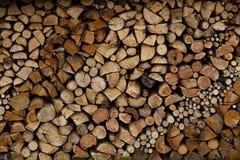 Pronto della legna da ardere tagliato Fotografia Stock Libera da Diritti