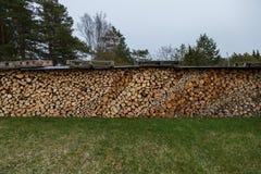 Pronto della legna da ardere tagliato immagini stock