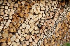 Pronto della legna da ardere tagliato fotografia stock