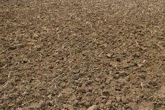 Pronto per la piantatura della terra arata immagine stock