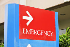 Pronto soccorso dell'ospedale Fotografie Stock