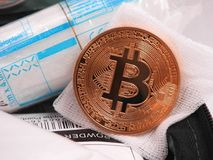 Pronto soccorso di Bitcoin fotografia stock libera da diritti