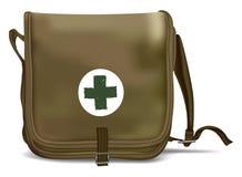 Pronto soccorso Kit Shoulder Bag Attrezzatura medica Fotografie Stock Libere da Diritti