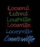 Pronunciações de Louisville Kentucky Fotografia de Stock