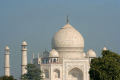 Proof of love. A closeup (eye level) of the indian monument Taj Mahal Royalty Free Stock Photo