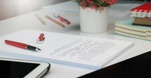 Free Proof Reading Paper On Table Royalty Free Stock Images - 122569639