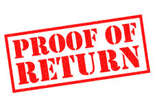 PROOF OF RETURN Royalty Free Stock Photos