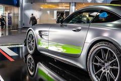PROoffener tourenwagen V8 Biturbo Mercedess-AMG GT R mit M178 Maschine, leistungsstarker Sportwagen produziert von Mercedes Benz lizenzfreies stockfoto